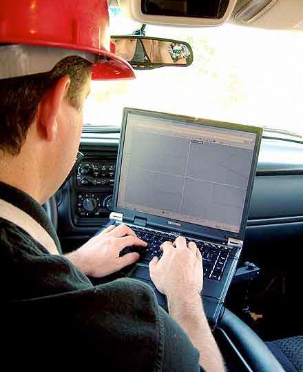 truck laptop