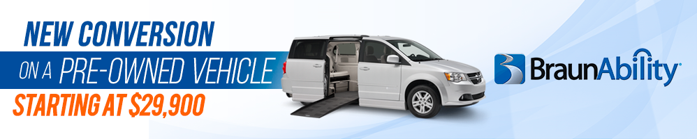 New BraunAbility Conversion/Pre-owned Dodge Caravan Promotion $29,995