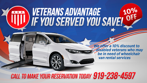 Veterans 10 Percent off Wheelchair Van Rental