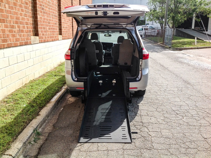 Side view of Blue Chrysler Wheelchair Minivan
