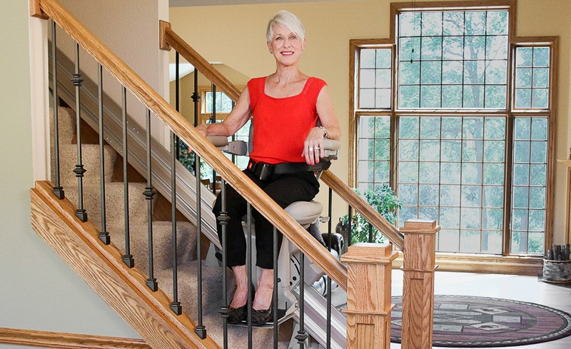 woman stair lift